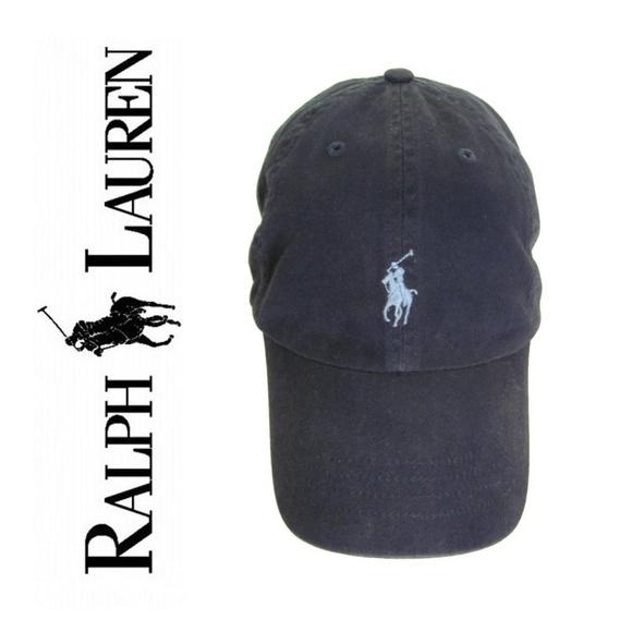 Adjustable Leather Strap Back Fine Embroidery Polo Cap Pony Logo Baseball Hats